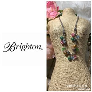 "Brighton necklace NWT ""Mimosa"" beaded w tin"